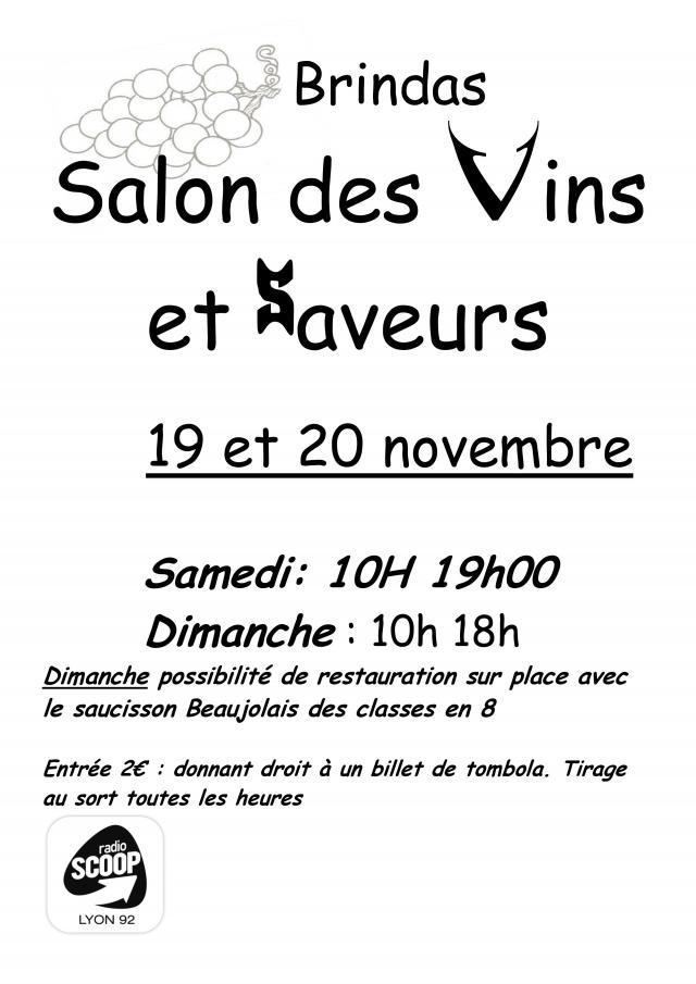 11 me salon des vins et des saveurs de brindas radio for Salon des saveurs