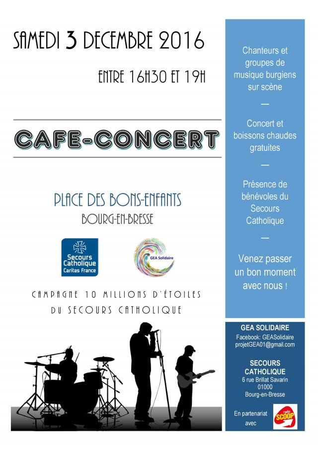Caf concert organis par des tudiants burgiens en faveur du secours cath - Secours catholique lyon ...