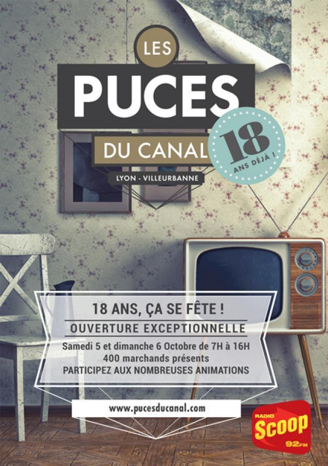Les puces du canal lyon villeurbanne f tent leurs 18 ans radio scoop la radio de lyon - Les puces du canal lyon ...