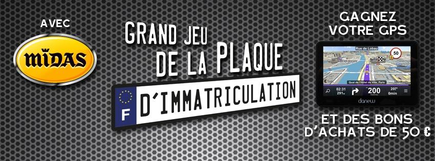 le grand jeu de la plaque d immatriculation avec midas radio scoop. Black Bedroom Furniture Sets. Home Design Ideas