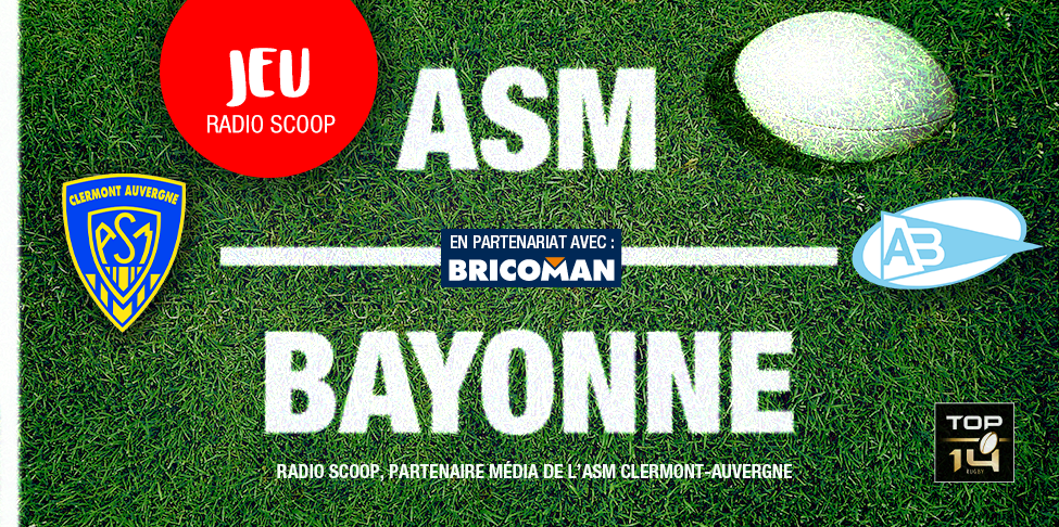gagnez vos places pour asm bayonne radio scoop. Black Bedroom Furniture Sets. Home Design Ideas