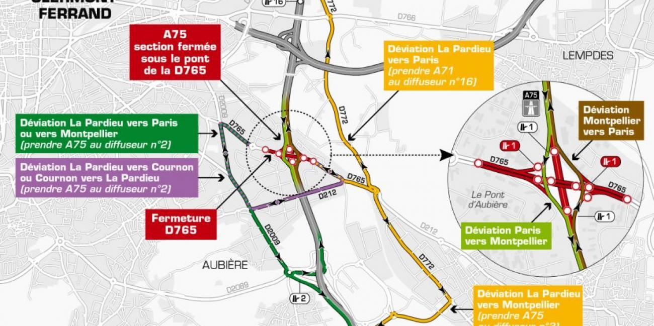 vif et grand en style sortie en vente comment commander Info trafic : l'A75 fermée ce week-end - Radio Scoop