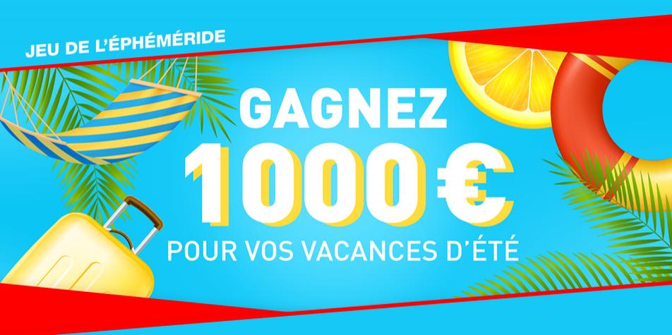 Gagnez 1000 euros pour préparer vos vacances d'été avec Radio SCOOP