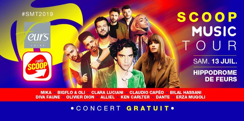 SCOOP Music Tour 2019 : rendez-vous samedi 13 juillet à Feurs !