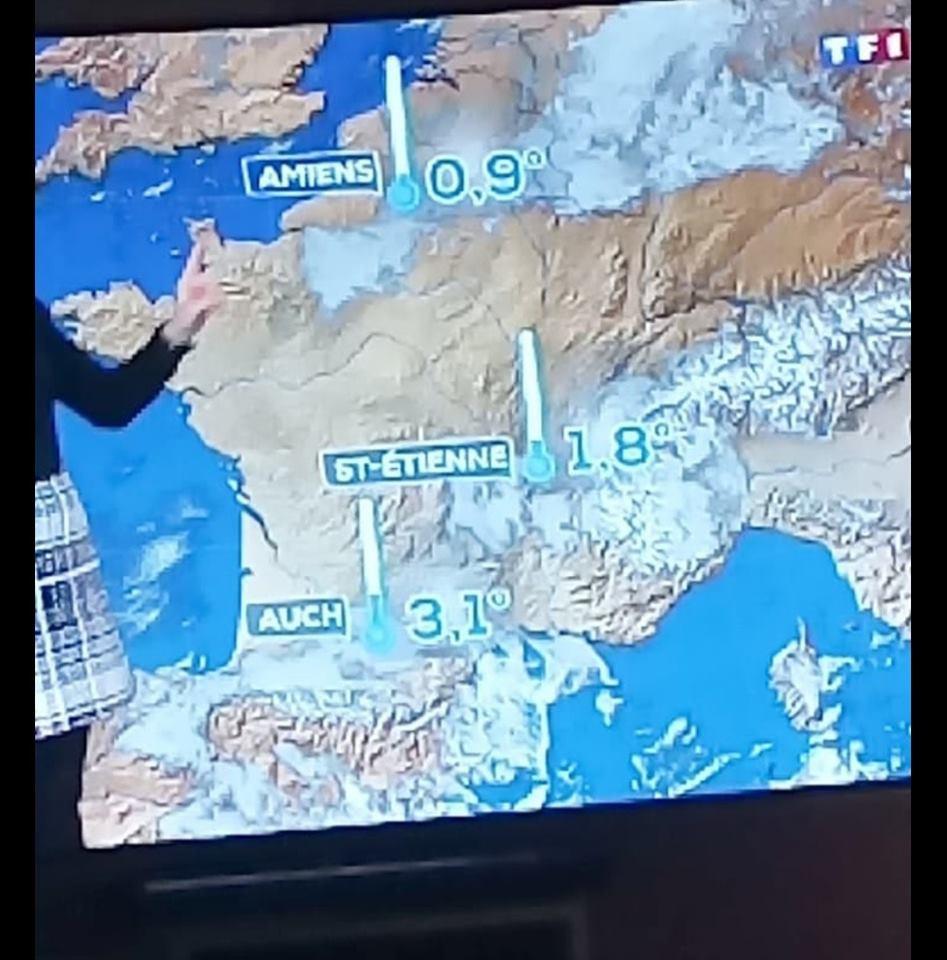 Saint-Étienne enfin sur la carte météo du JT de 20H de TF1 ! - Radio Scoop